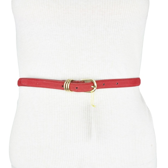 BCBG Red Maroon Faux Leather Belt